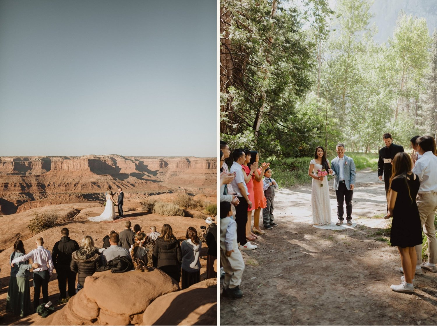 elopement ceremony with family