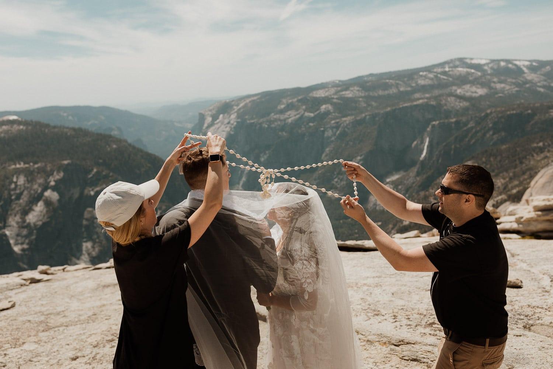 handfasting ceremony idea on top of half dome summit