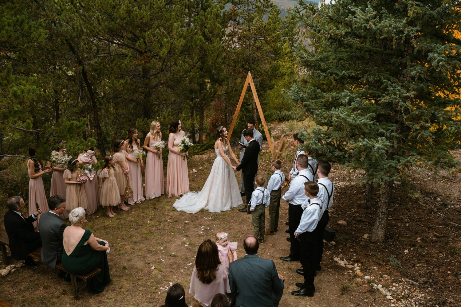 family ceremony with officiant in Colorado