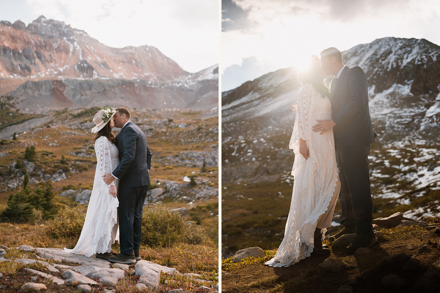 bride and groom eloping in Telluride, Colorado